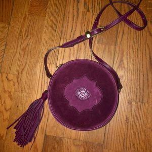 OrYANY Burgundy Suede Kailee Canteen Crossbody Bag